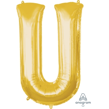 Picture of 34'' LETTER U SUPER SHAPE - GOLD