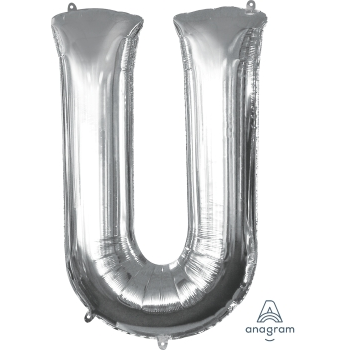 Picture of 34'' LETTER U SUPER SHAPE - SILVER