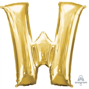 Picture of 34'' LETTER W SUPER SHAPE - GOLD
