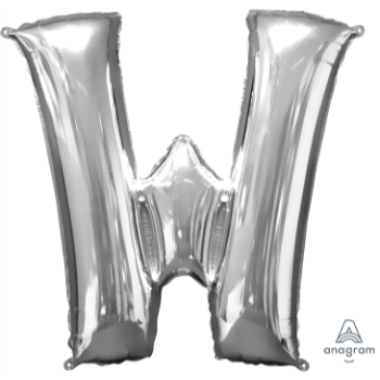 Picture of 34'' LETTER W SUPER SHAPE - SILVER