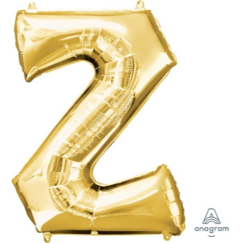 Picture of 34'' LETTER Z SUPER SHAPE - GOLD