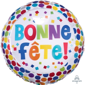 "Image de 18"" FOIL - BONNE FÊTE POINTS MULTICOLORES"