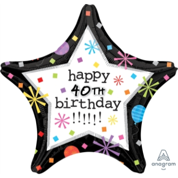 "Image de 18"" FOIL HAPPY BIRTHDAY PERSONALIZE - CONFETTI"