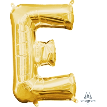 Picture of MINI SHAPE LETTER E  - GOLD (AIR FILLED)