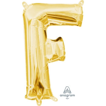 Picture of MINI SHAPE LETTER F  - GOLD (AIR FILLED)