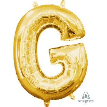 Picture of MINI SHAPE LETTER G  - GOLD (AIR FILLED)
