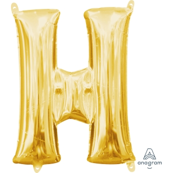 Picture of MINI SHAPE LETTER H  - GOLD (AIR FILLED)
