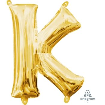 Picture of MINI SHAPE LETTER K  - GOLD (AIR FILLED)