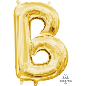 Picture of MINI SHAPE LETTER B  - GOLD (AIR FILLED)