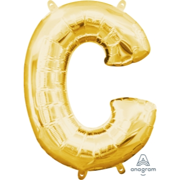 Picture of MINI SHAPE LETTER C  - GOLD (AIR FILLED)