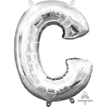 Picture of MINI SHAPE LETTER C  - SILVER (AIR FILLED)