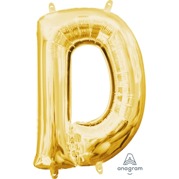 Picture of MINI SHAPE LETTER D  - GOLD (AIR FILLED)