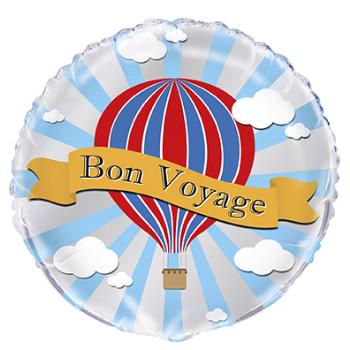 """Image de 18"""" FOIL - HOT AIR BON VOYAGE"""
