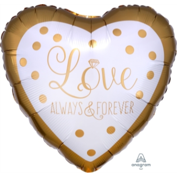 "Image de 18"" FOIL - SPARKLING GOLD WEDDING HEART"