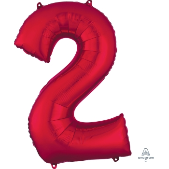 Picture of 34'' NUMBER 2 SUPERSHAPE - RED