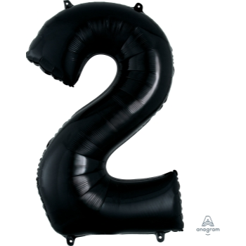 Picture of 34'' NUMBER 2 SUPERSHAPE - BLACK