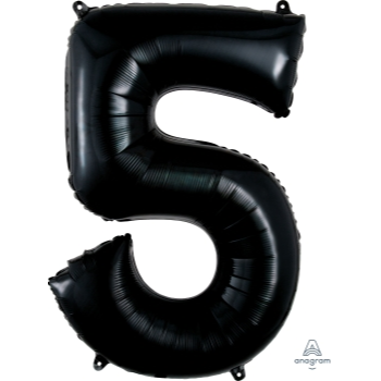 Picture of 34'' NUMBER 5 SUPERSHAPE - BLACK