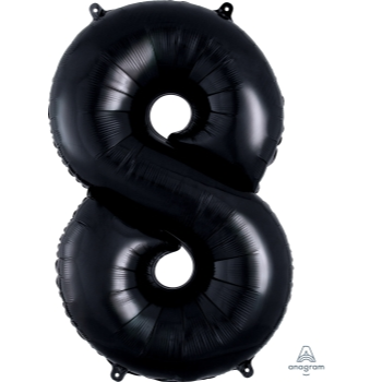 Picture of 34'' NUMBER 8 SUPERSHAPE - BLACK