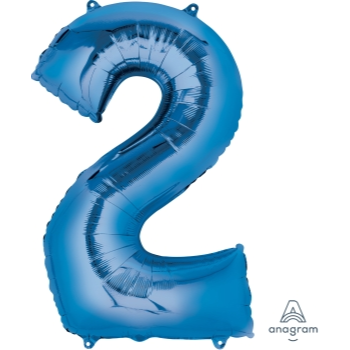 Picture of 34'' NUMBER 2 SUPERSHAPE - BLUE