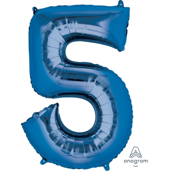 Picture of 34'' NUMBER 5 SUPERSHAPE - BLUE