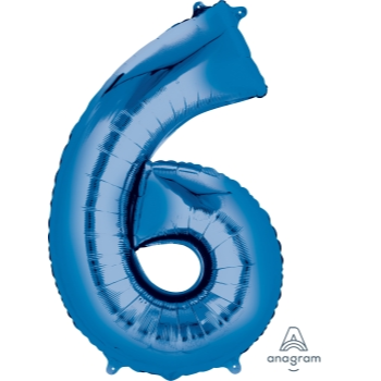 Picture of 34'' NUMBER 6 SUPERSHAPE - BLUE