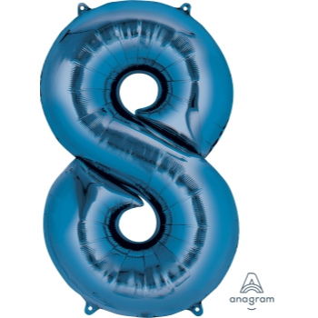 Picture of 34'' NUMBER 8 SUPERSHAPE - BLUE