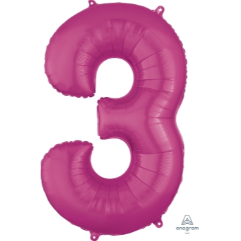 Picture of 34'' NUMBER 3 SUPERSHAPE - PINK