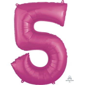 Picture of 34'' NUMBER 5 SUPERSHAPE - PINK