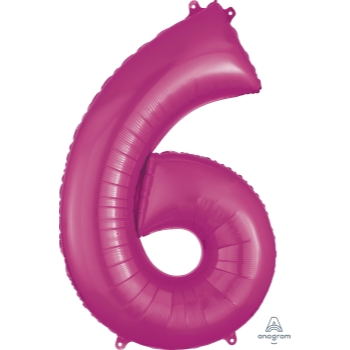 Picture of 34'' NUMBER 6 SUPERSHAPE - PINK