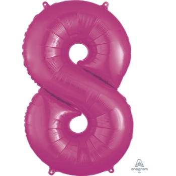 Picture of 34'' NUMBER 8 SUPERSHAPE - PINK