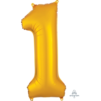 Picture of 34'' NUMBER 1 SUPERSHAPE - GOLD