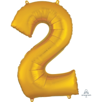 Picture of 34'' NUMBER 2 SUPERSHAPE - GOLD