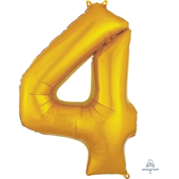 Picture of 34'' NUMBER 4 SUPERSHAPE - GOLD