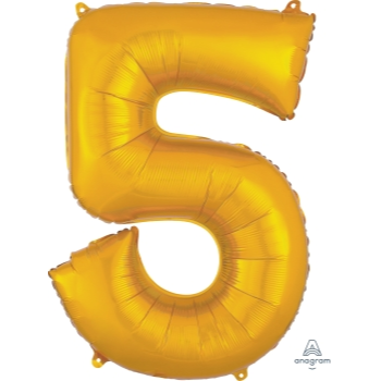 Picture of 34'' NUMBER 5 SUPERSHAPE - GOLD