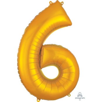 Picture of 34'' NUMBER 6 SUPERSHAPE - GOLD