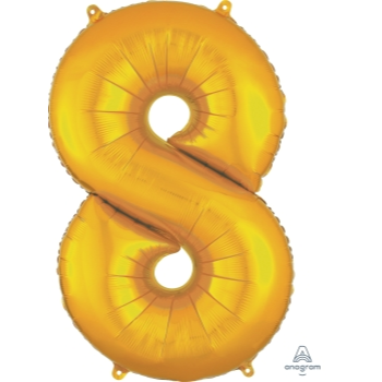 Picture of 34'' NUMBER 8 SUPERSHAPE - GOLD