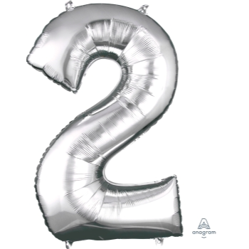 Picture of 34'' NUMBER 2 SUPERSHAPE - SILVER