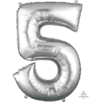 Picture of 34'' NUMBER 5 SUPERSHAPE - SILVER