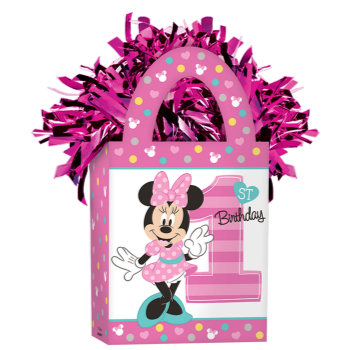 Image de MINNIE MOUSE 1ST BIRTHDAY BALLOON WEIGHT