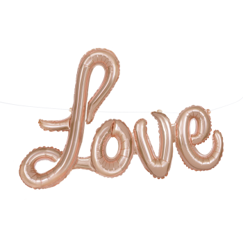 Picture of FOIL BALLOON BANNERS - LOVE - ROSE GOLD