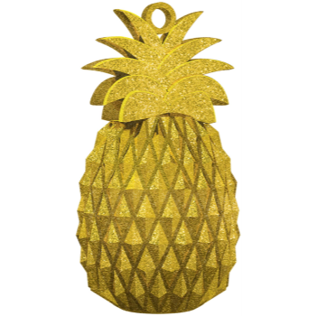 Image de GOLD PINEAPPLE BALLOON WEIGHT