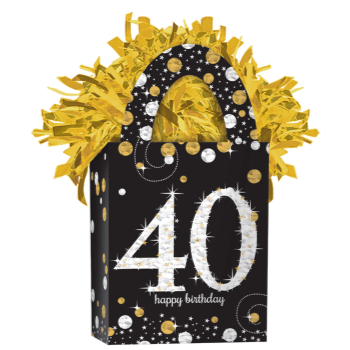 Image de 40th - SPARKLING CELEBRATION BIRTHDAY BALLOON WEIGHT