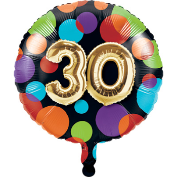 "Picture of 30th - 18"" FOIL - BALLOON BIRTHDAY"