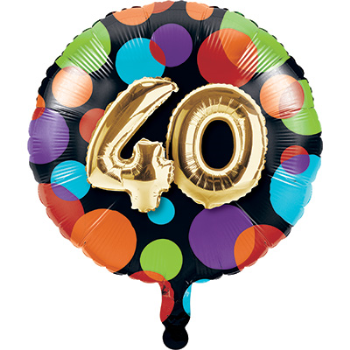 "Picture of 40th - 18"" FOIL - BALLOON BIRTHDAY"