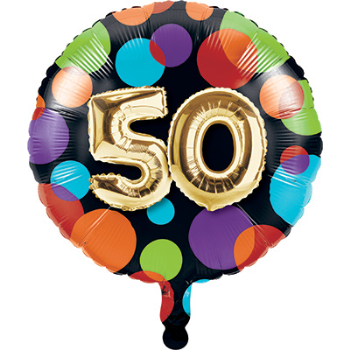"Picture of 50th - 18"" FOIL - BALLOON BIRTHDAY"