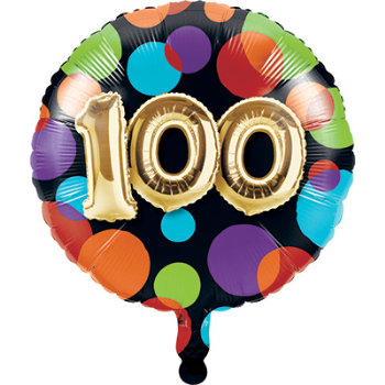"Picture of 100th - 18"" FOIL - BALLOON BIRTHDAY"