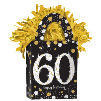 Image de 60th - SPARKLING CELEBRATION BALLOON WEIGHT