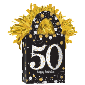 Picture of SPARKLING CELEBRATION 50TH BIRTHDAY BALLOON WEIGHT