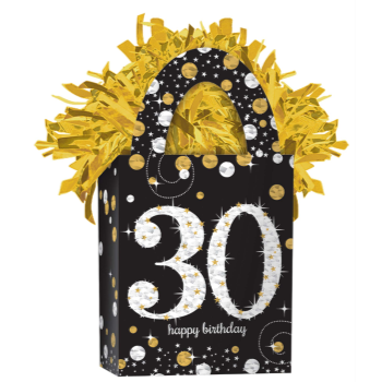 Image de 30th - SPARKLING CELEBRATION BALLOON WEIGHT