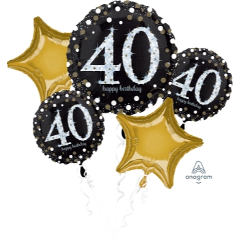 Picture of 40th - SPARKLING BIRTHDAY FOIL BOUQUET